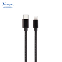Nylon Braided Fast Data Sync Quick charging USB type C cable for Iphone 8 charger Cable