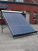 three target vacuum evacuated tube solar thermal collector