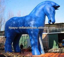 Inflatable Advertising Cartoon Model Blue Horse Big Giant Model Inflatable For Hot Sale