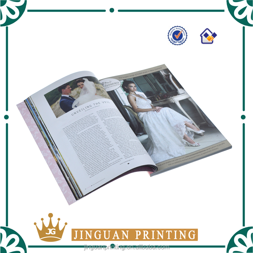 Professional offset printing high quality fashion full color custom magazine