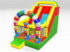 Front Open Inflatable Wall Colorful Arch Inflatable Dry Slide