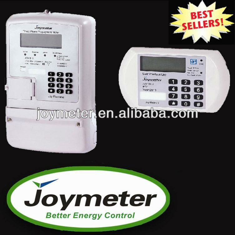 JOY312 Split three Phase Prepaid/prepay Modbus Energy/electric Meter