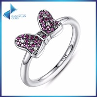 China wholesale women silver gold plated ring jewelry