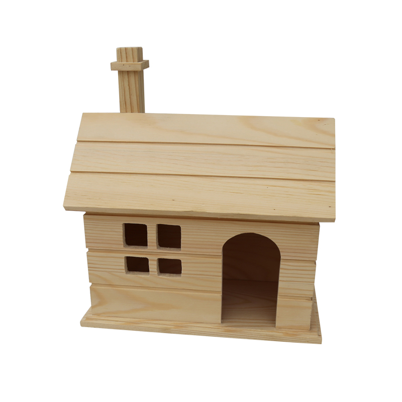 Wooden garden accessories wood bird house