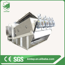 self-service running sludge dewatering filter press for cow dung wastewater treatment