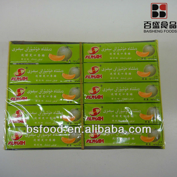 chewing gum cantaloup flavor(5 sticks)