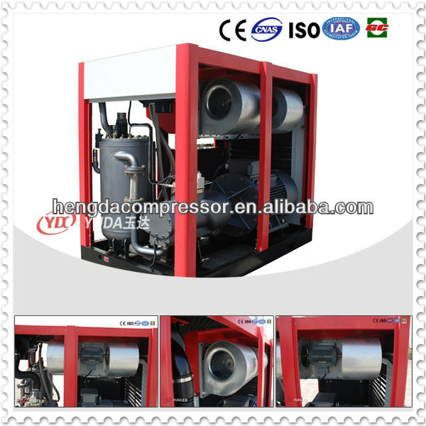 100HP 75KW 10bar Electric AC Power Used Rotary Screw Air Compressor with 12.0m3/min Capacity