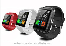 U8 bluetooth smart watch mobile cellphone,support multi-language and intelligent functions.