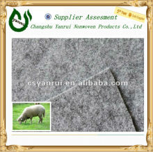 Grey 100%wool felt/wool carpet backing