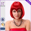 Wig Catalogs Supply Popular Bob Style Straight Red Synthetic Wigs