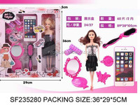 Good seeling toy doll barbie girls makeup games,toys beauty set for Girls, SF235280