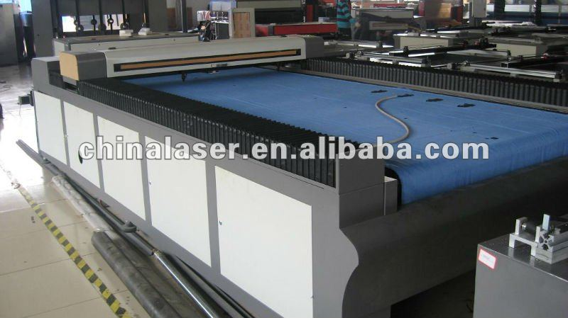 flat bed Roll to Roll cutting textile laser cutting machine