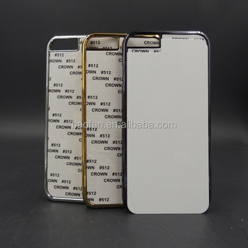Newest 2D sublimation electroplated phone case for i6 4.7inch