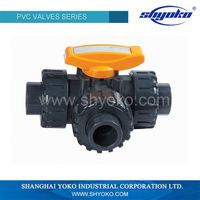 NEW RAW MATERIAL PVC THREE WAY UNION VALVE IN CHINA SUPPLIER