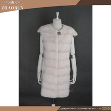 New Mink Fur Coat , Women Long Pink Real Mink Fur Vest
