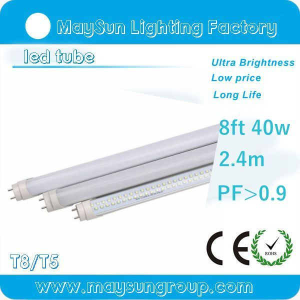 8FT LED T8 Tube 40W Linear Fluorescent Replacement Light Bulbs 6500K