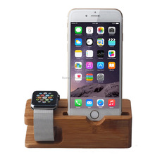 FL3619 best selling wooden desktop for apple watch charging stand, stand Charger Holder for apple watch and Iphone charging dock