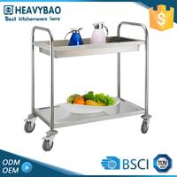 Stainless Steel Knocked-down Outdoor Kitchen Mobile Food Cart Price All Types Of Trolley For Hotel