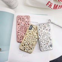 New arrival hot selling bling bling case flower diamond case luxury mobile phone accessory for iPhone X