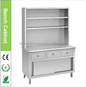 Stainless steel kitchen equipments for restaurants with for Stainless steel kitchen cabinet price
