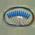 distribution 12 color core fiber optic pigtail with SC UPC connector