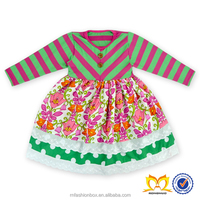 Latest Baby Dress Designs Pictures New Style Baby Short Frock Dress Kids Fashion Stripes Dresses Wholesale