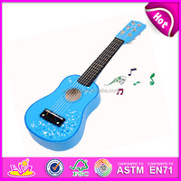 Baby Musical Instrument,Children toy wooden guitar Musical toy,Beautiful wood Baby music toys 3D guitar toys with music W07H035
