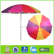 Top selling Factory wholesale Sun protection Polyester high quality canvas beach umbrella