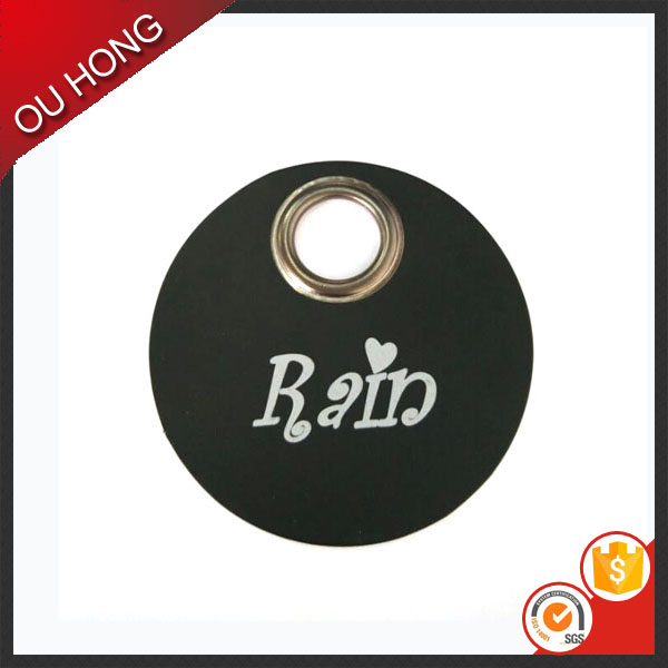 Eco-friendly Big Punch Hole Custom Paper Kids Hang Tag