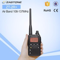 Hot sell walkie talkie Zastone ZT-2R+ 1300 channels Upgraded model of ZT-2R wide band mini handy air band two way radio