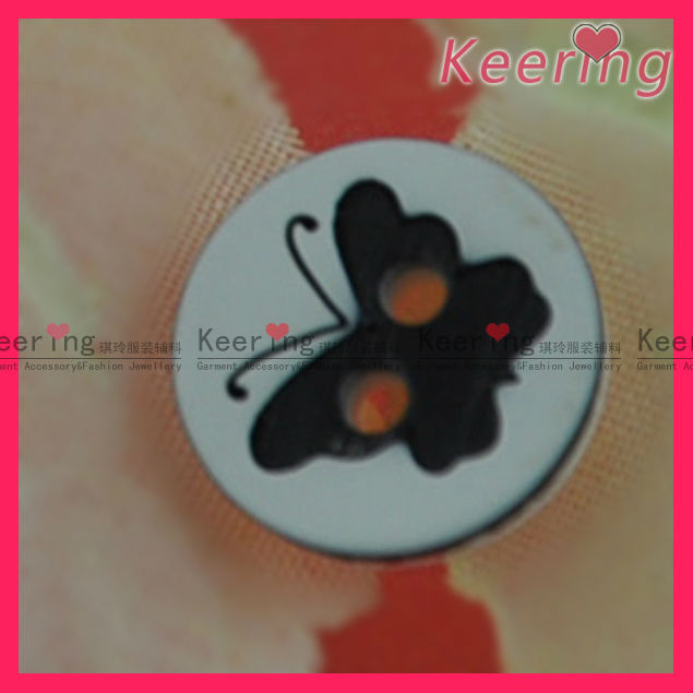 butterfly shape iron on plastic button for coat buttons WBK-1281