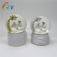 Polyresin religious nativity christmas decoration snow globe