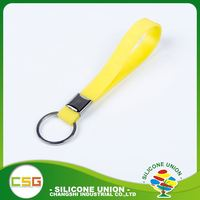 Exquisite workmanship lanyards silicone keychain promotional