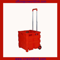 Wholesale 3 Wheels Folding Shopping Moving Box Plastic