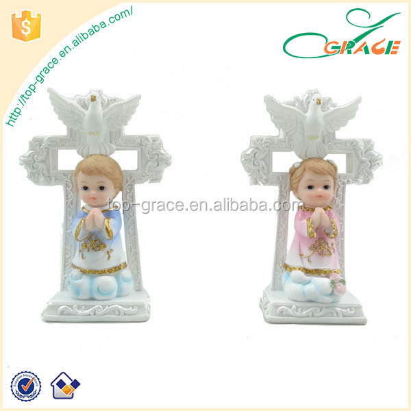 resin religious baby first communion souvenirs