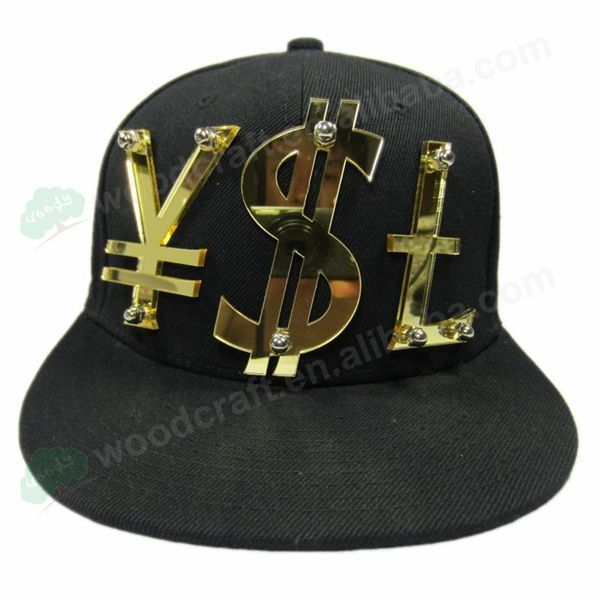 mirror Acrylic RMB USD GBP $ letters fashion men women sports baseball caps wholesale hats