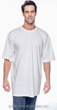 AM116 100% cotton blank tall tee shirt in short sleeve