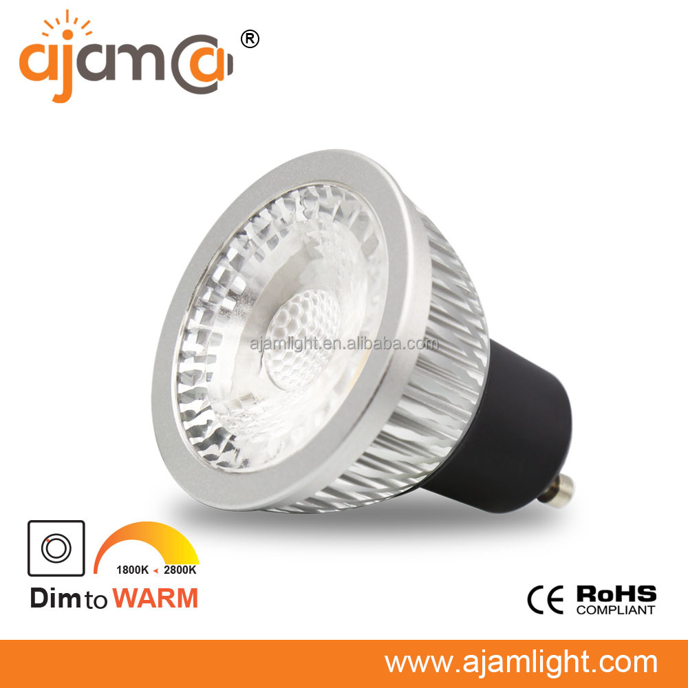 CCT Dimmable Spot led light dim to warm ra>95 GU10 2700k to 1800k