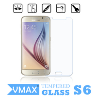High quality !!! anti-broken anti radiation 0.33mm/2.5D real tempered glass screen protector for Samsung galaxy S6 OEM/ODM