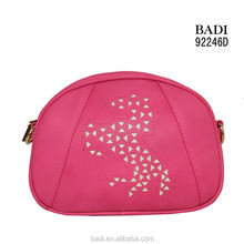 badi fuchia pu leather bags crossbody bag fashion pu horse design laser cut handbag