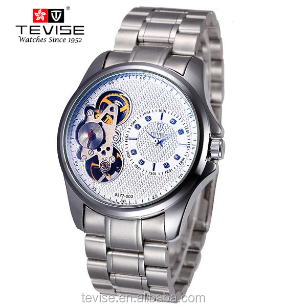 Made in china water resistant moonphase luxury automatic brand watches with doble movement