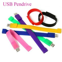 Custom usb flash memory design 8gb 16gb 2.0 silicone usb slap bracelet