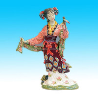 custom hand painted ceramic chinese lady figurines