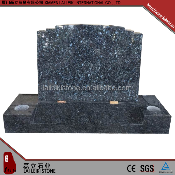 China factory nature split black granite cemetery headstones tombstones