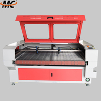 MC1810 automatic feed fast speed pants fabric CO2 laser cutting machine price