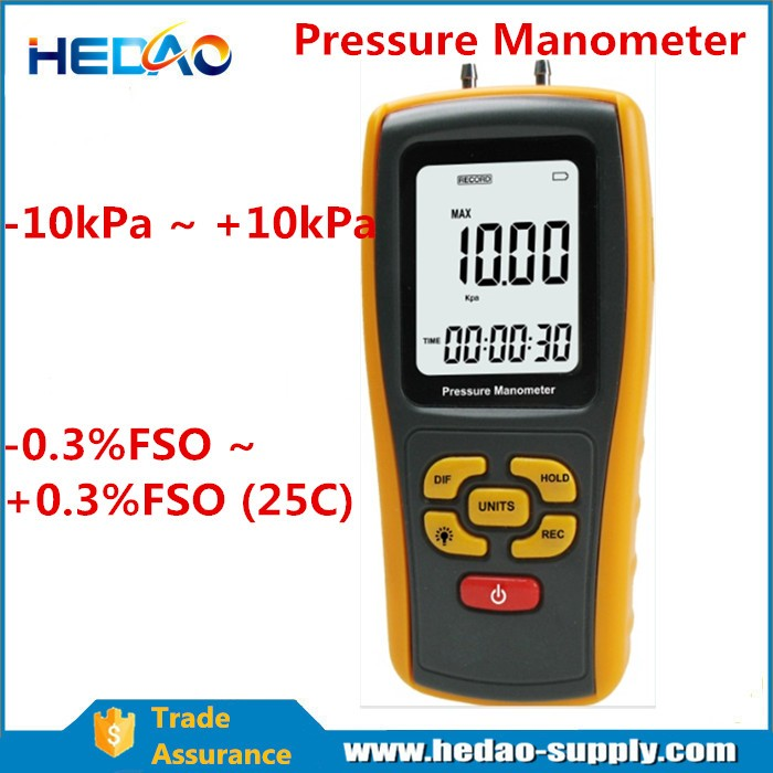 LCD Display Low differential Pressure digital Manometer HD511