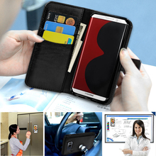 Wholesale price detachable leather case with RFID blocking material phone case for samsung galaxy s8