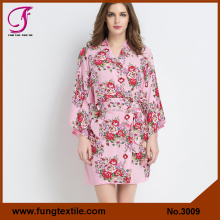 Best Seller Maternity Robe Coton Flower Wrap Robe
