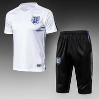 Wholesale Sports Custom Wear Soccer Jersey 100% Polyester England Football Jersey