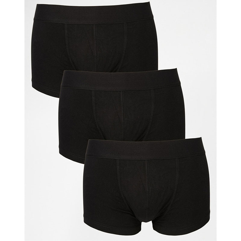 Comfortable and high quality man underwear plain black boxer shorts for men